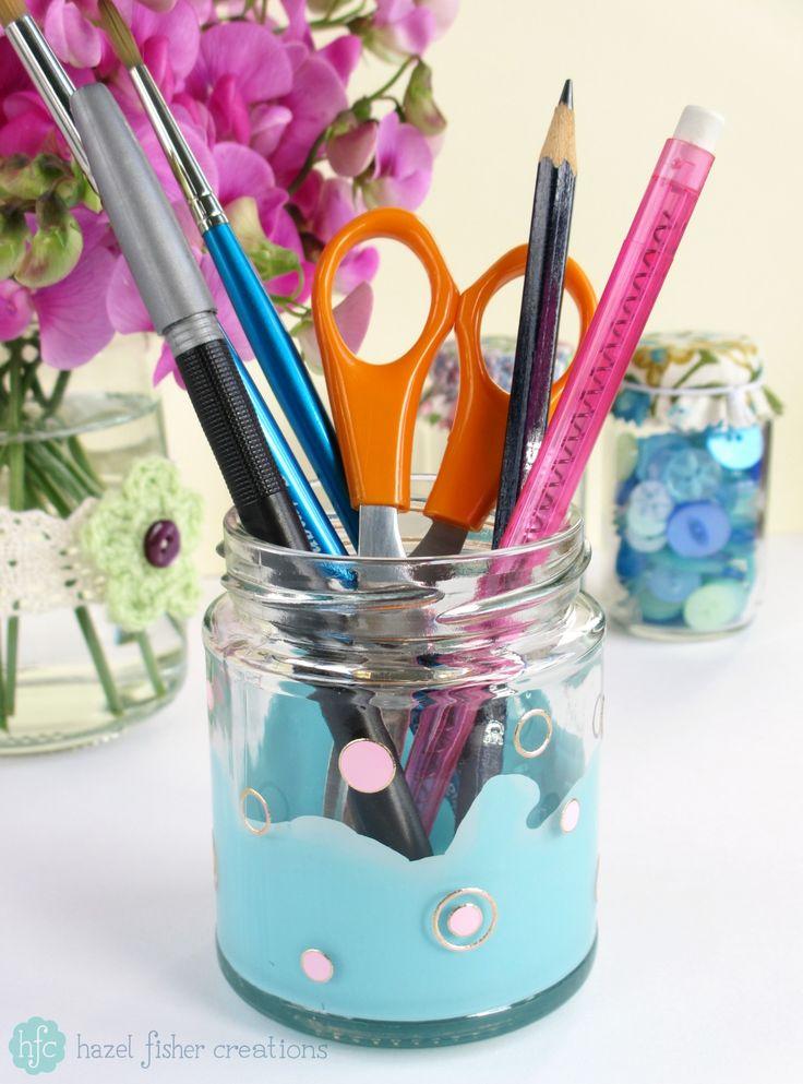 Upcycling Jars DIY ideas - hazelfishercreations