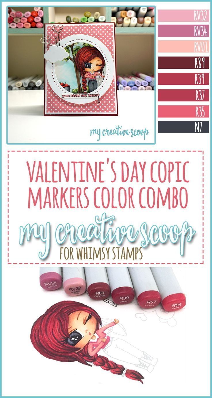 valentines day copic markers color combo