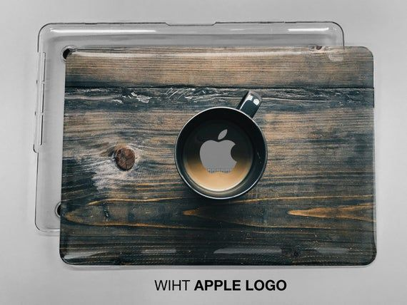 Cup of coffee on a wooden table print case available for all apple macbook model case for macbook 15