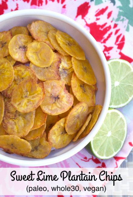 Sweet Lime Plantain Chips | Plaid and Paleo