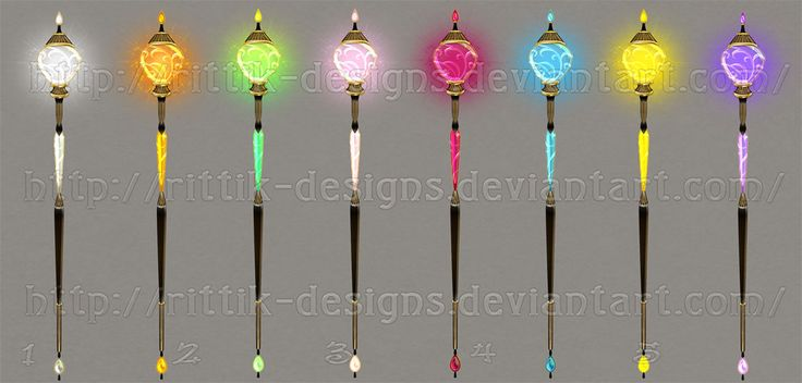 I was drawing a new staff and couldn't decide on its colour - I loved all the variants! I thought - maybe different people will need different colours, so I decided to make this stock. You can purc...
