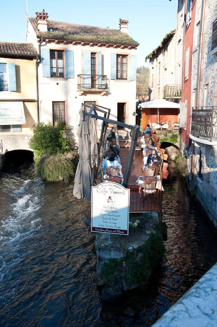 A cafe, Borghetto, Veneto, Italy
