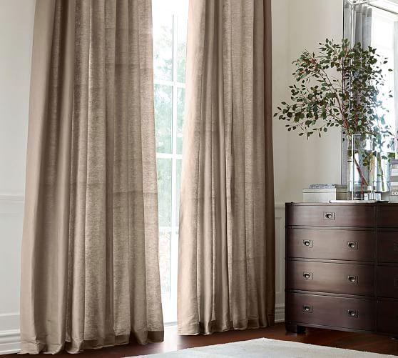 Dupioni Silk Pole Pocket Drape, 104 x 96″ Brownstone At Pottery Barn – Rugs & Windows – Drapes & Curtains