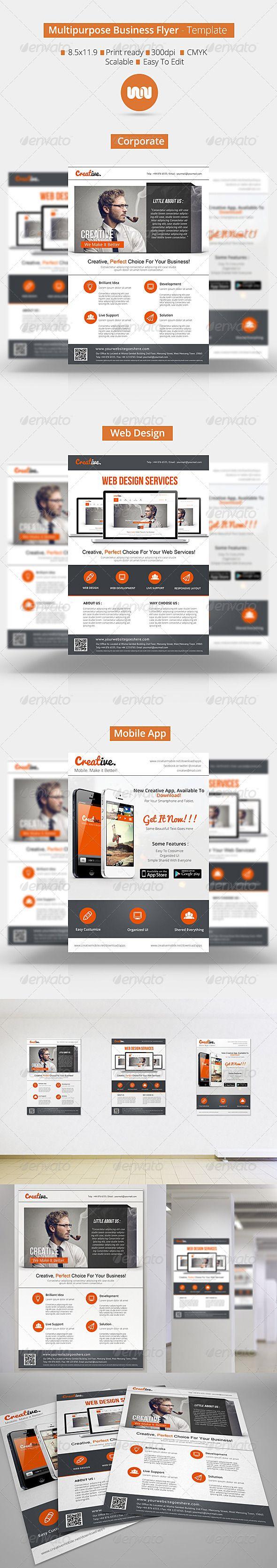 Best 25 business flyers ideas on pinterest business flyer multipurpose business flyer template pronofoot35fo Gallery