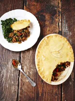 Gluten Free Curried Veg Pie | Christmas Recipes | Jamie Oliver ( can leave out cheese or use substitute )