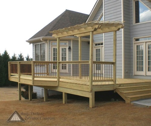 Pictures of wood deck from Atlanta Decking and Fence Company.