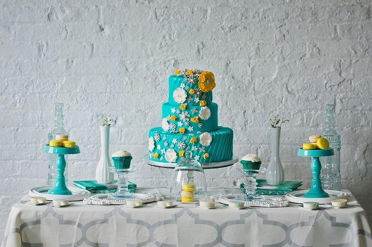 teal, yellow, and grey wedding | Teal, Yellow & Grey Wedding Inspiration