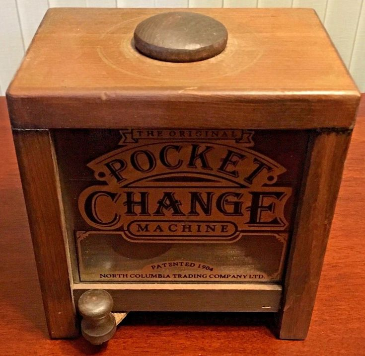 Vintage  Wooden   Coin  Change  Box  Pocket Change Machine  Patented  1904 #NorthColumbiaTradingCompany