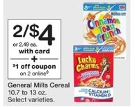 $1.75 in Savings on General Mills Big G, Cheerios, Nature Valley Cereals ($1.50 a box at Walgreens starting 04-02)