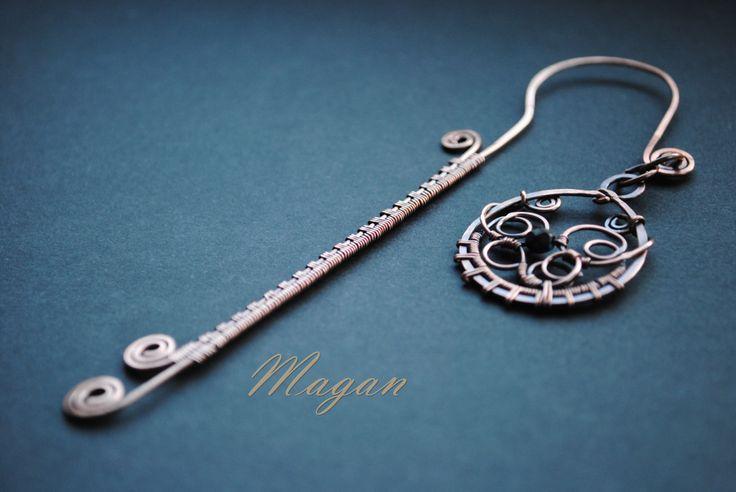 Zakładka do książki, #wirewrapping, Magan hand made