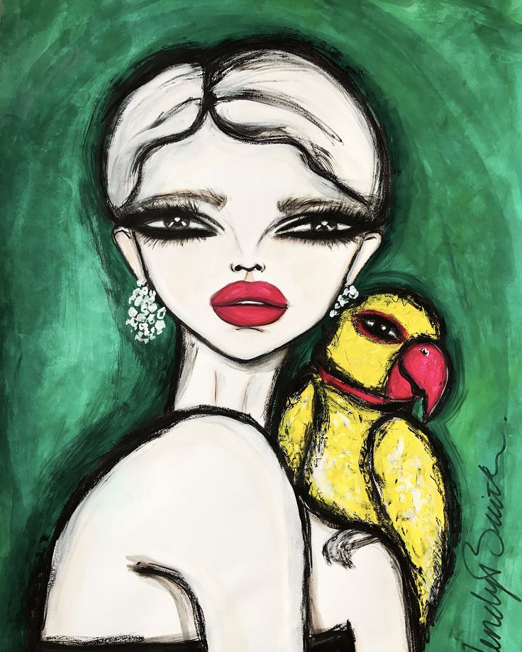 Yellow Parrot | Art by Wendy Buiter. This is a 100x70cm painting