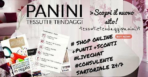 Panini Tessuti e Tendaggi : nuovo Sito web e Shop online!