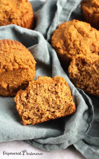 Coconut flour pumpkin muffins || paleo, nut free