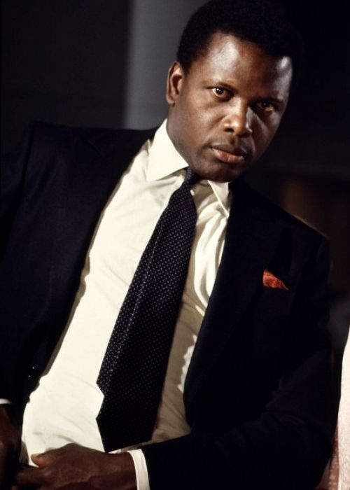 "sidney poitier ""They call me Mr Tibbs""Heat of the night film where he has to try and get a Jim Crow Sheriff to work with him. Joel York"
