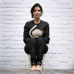 Sharleen Spiteri with her diamond studded teapot, Sharleen would like to have a tea party with Marvin Gaye.