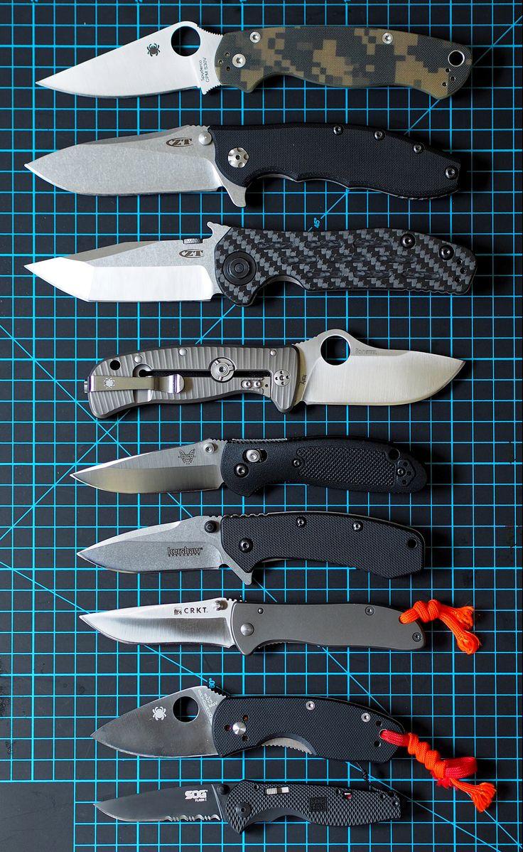 My Hiking knife 1.Spyderco Paramilitary2  2,ZeroTolerance 0562  3,ZeroTolerance 0620  4,Spyderco lil lionspy  5, Benchmade Mini Griptilian  6,Kershaw Cryo  7,CRKT Drifter  8,Spyderco ambitious  9,SOG Flash1