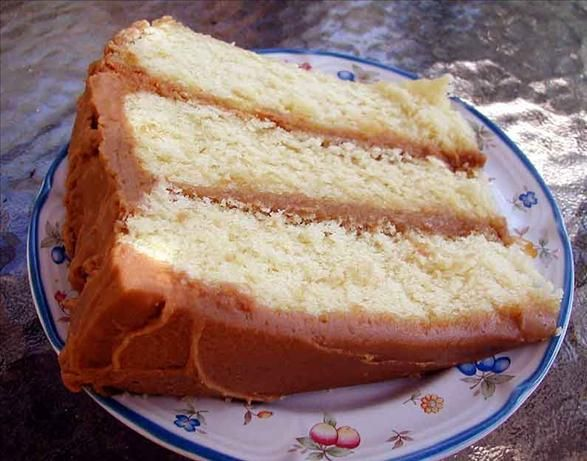 An excellent caramel cake recipe. You will definately need to double the icing recipe to make a thicker layer. Enjoy!