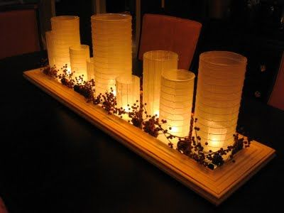 A great idea from thethrifty decor chick a diy everyday for Candle centerpieces for dining room table