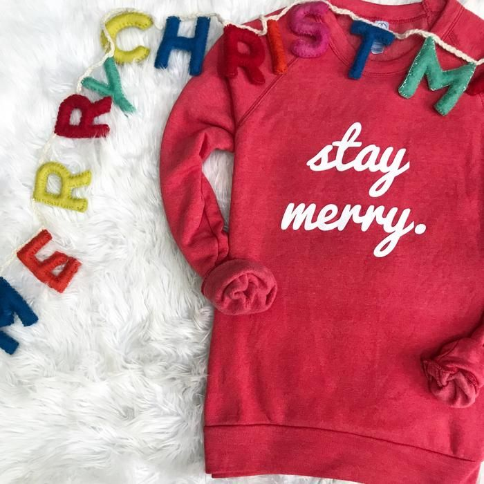 Stay Merry Sweatshirt Sale Price Taylor Wolfe Holiday