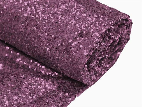 Sequin Eggplant Purple Table Runner Various by DESIGNERSHINDIGS, $13.95