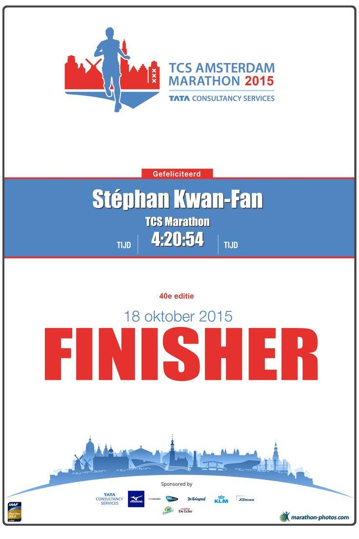 1er marathon! Fier!
