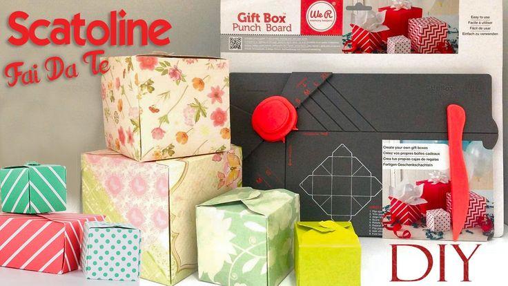 Tutorial: Scatoline fai da te con la Gift Box Punch Board Cos'è? Come Fu...