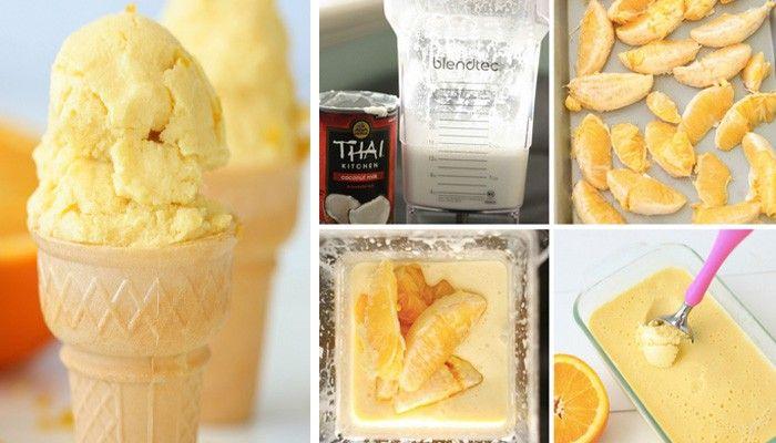 Zmrzlina je velmi oblíbená přes léto, proto si připravte domácí zmrzlinu z pomeranče a kokosového mléka.