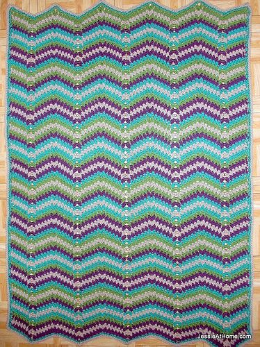 Free Crochet Patterns With Baby Yarn : Faded-Ripple-Free-Crochet-Pattern-Baby-Blanket-Chunky ...