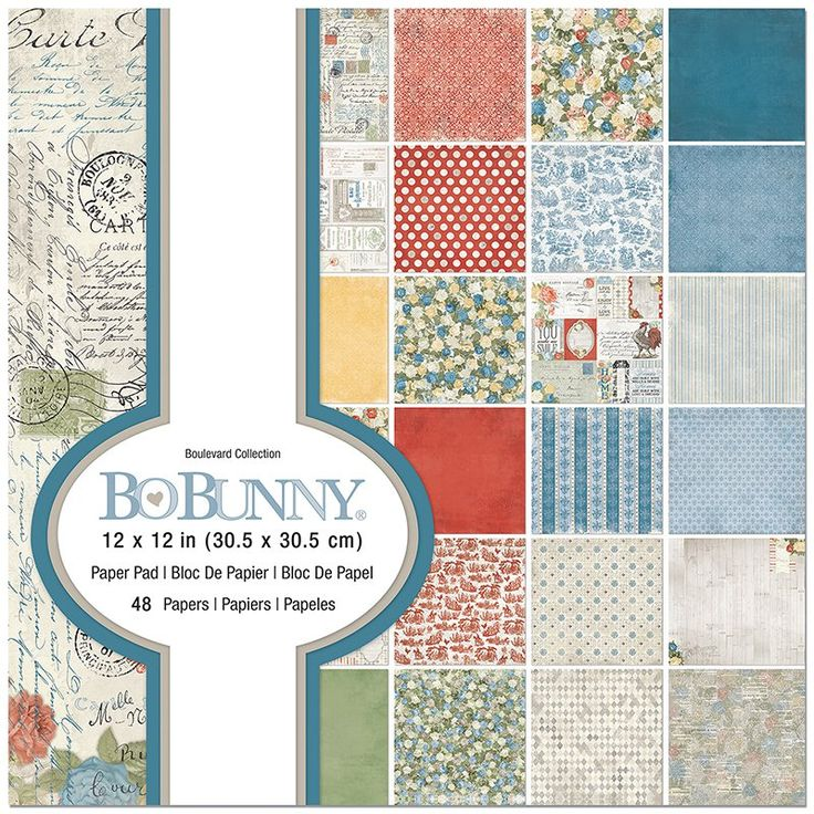 """48 Sheets American Crafts 12/"""" x 12/"""" BoBunny Bee-utiful You Patterned Paper Pad"""