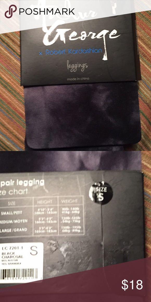 BNWT R. Kardashian leggings in charcoal tie dye Black and grey in color. Nice for 3 seasons Arthur George Pants Leggings