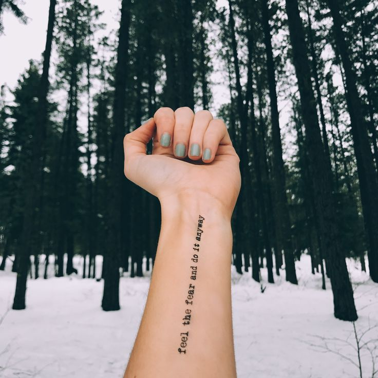 Custom Temporary Tattoos by TOOD - feel the fear and do it anyway