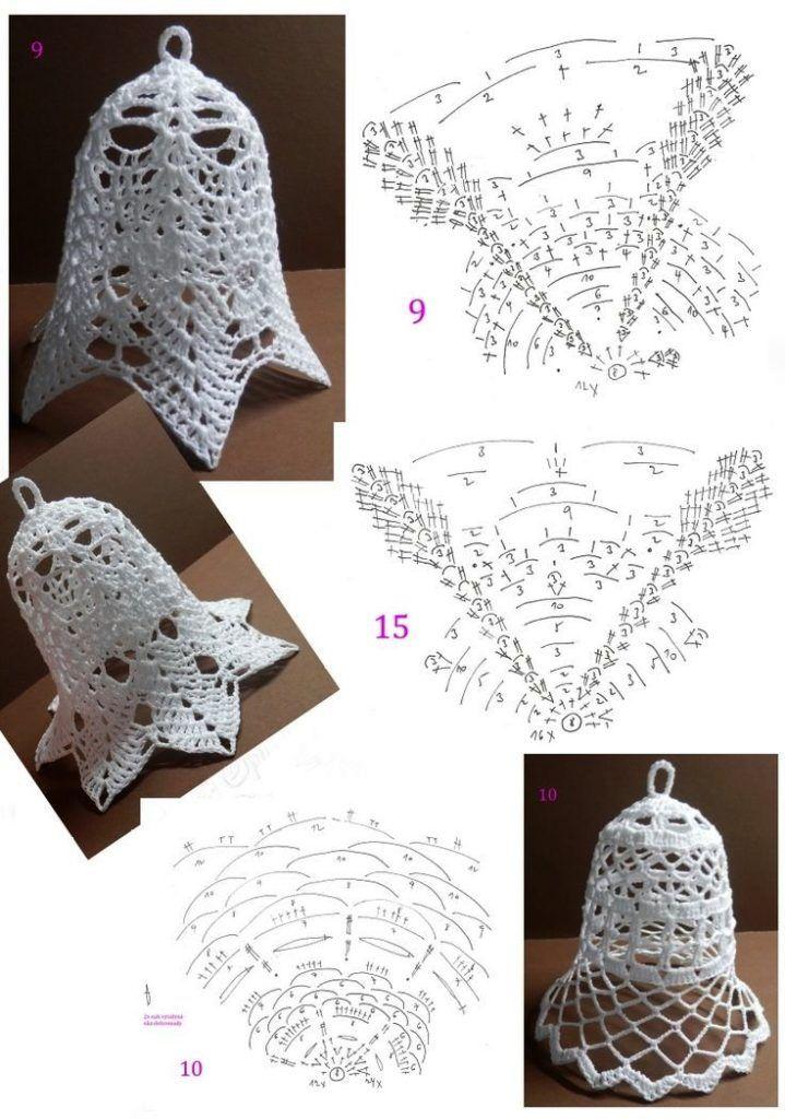Patrones de Campanas Navideñas Tejidas a Crochet | Karácsony ...