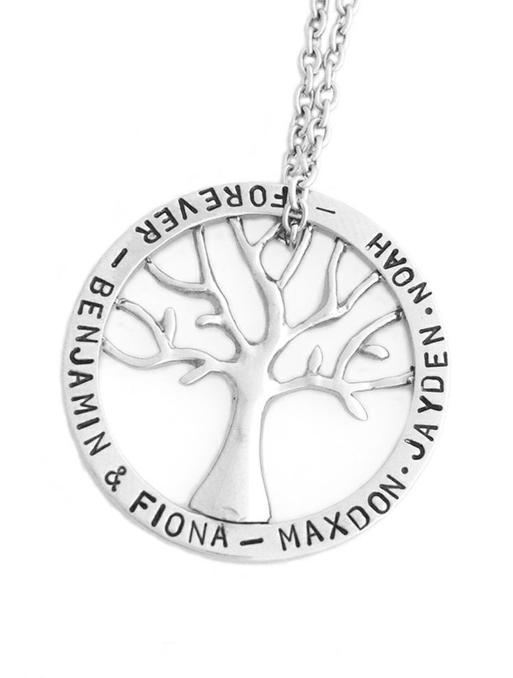 Fiona Cate - Family Tree Necklace - personalised handstamped jewellery designs