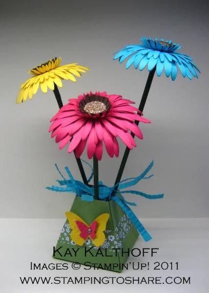 daisy: Gerber Daisies, Gerbera Daisies, Birthday Hats, Cute Pet, Stampin Up, 6 10 Stampin, Shots Gerber, Paper Flowers, Big Shots