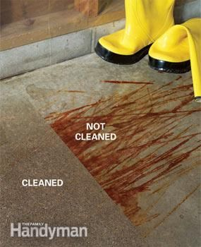 Removing oil paint and other concrete stains stains for Best way to remove oil from concrete