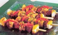 Ingrediënten voor ca. 12 stuks: 200 gram chorizoworst in blokjes gesneden (zonder vel) 400 gram kipfilet in blokjes gesneden 2...