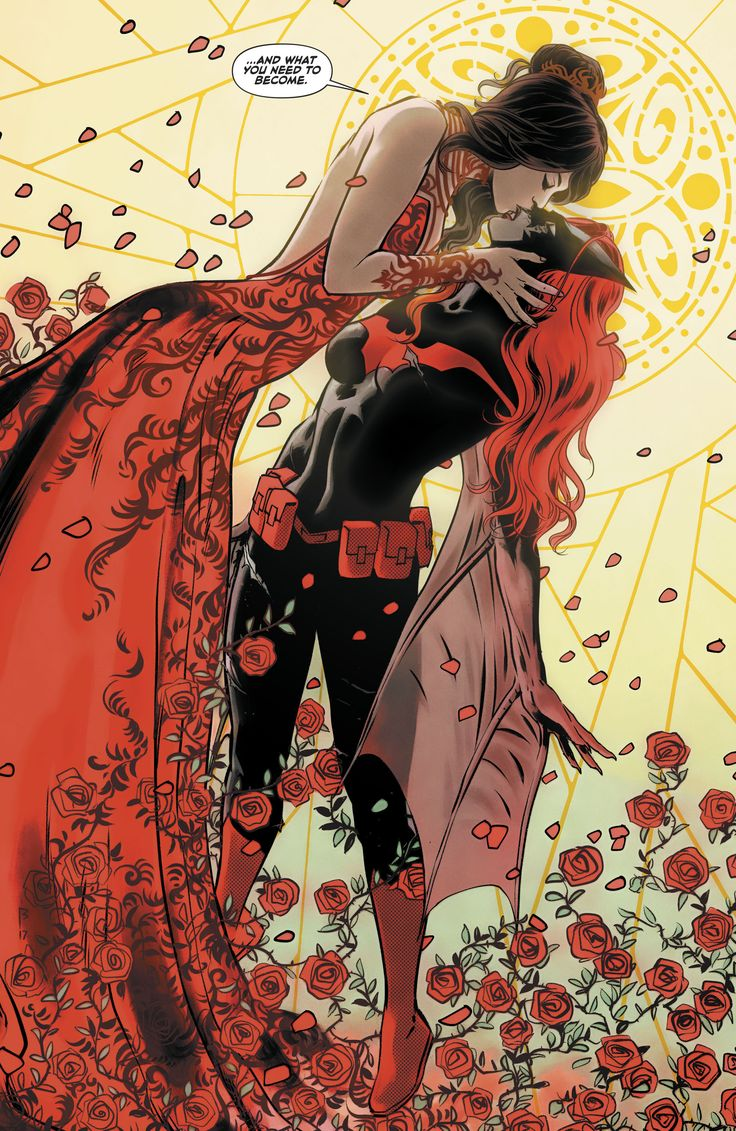 Batwoman, Kate Kane Ok but Batwoman comics are gay as hell, like you'll never see her kiss sooo many women in another comic!!! Love ya Kate