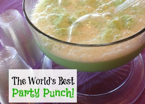 The World's Best Party Punch Recipe...try it with pineapple sherbert!  Yum!