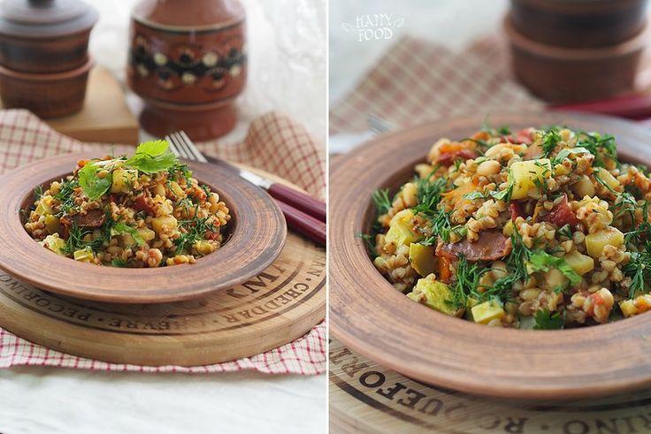 Гречка с овощами и карри (Готовлю с посудой iCook™) - HAPPYFOOD