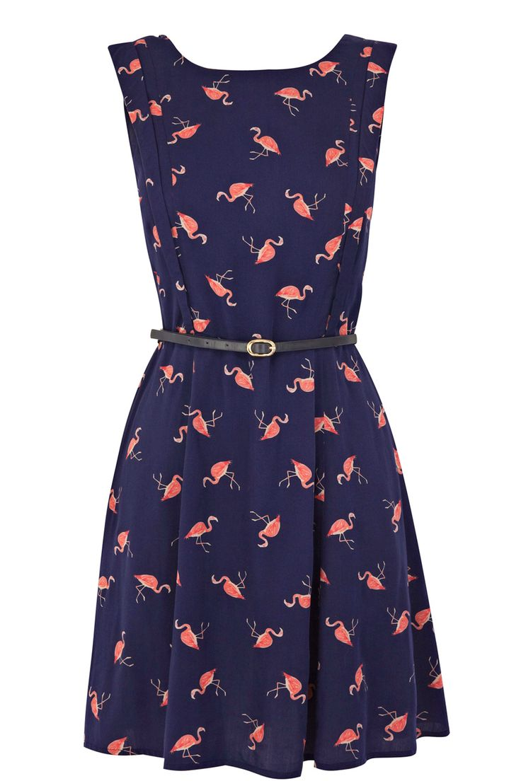 flamingo print dress! | Dresses | Pinterest