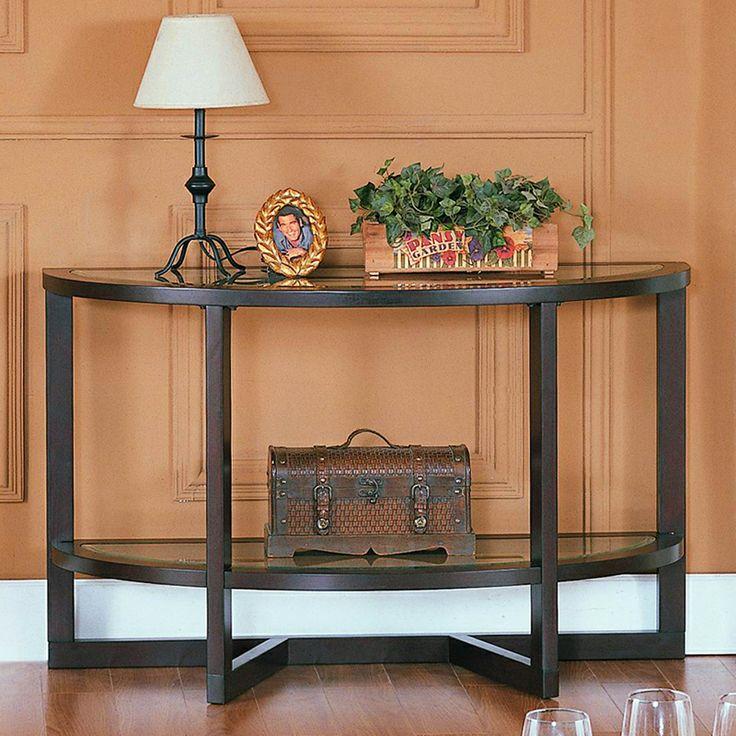 Homelegance 3206-05 Vista Sofa Entry Table, Espresso Cherry - Home Furniture Showroom