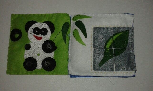 Quiet book - panda s knoflikama a puzzle