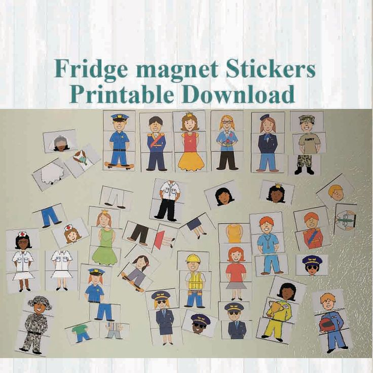 Princess and Prince Fridge magnet stickers, Building blocks. Instant digital download Printable by MoonGloCreations on Etsy