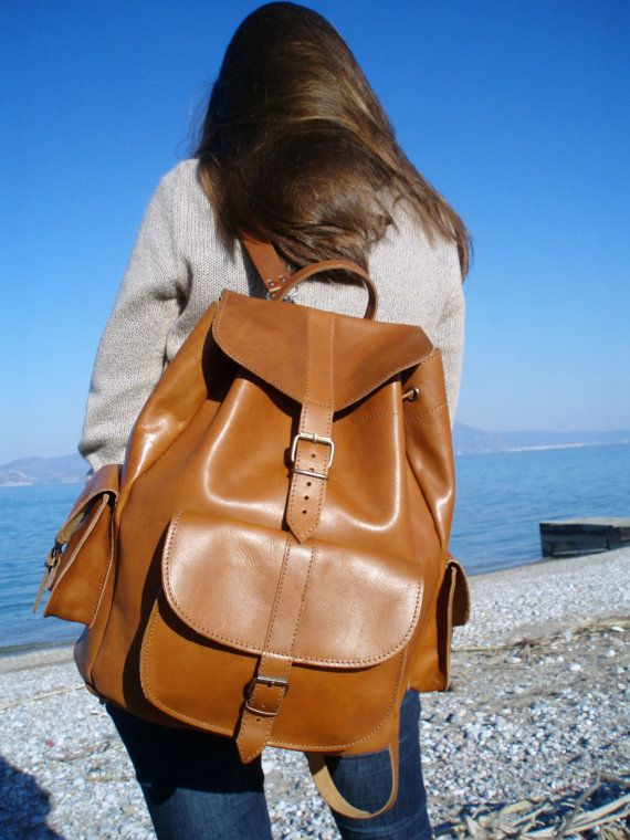 EXTRA LARGE Full Grain Leather Backpack Handmade by MagusLeather