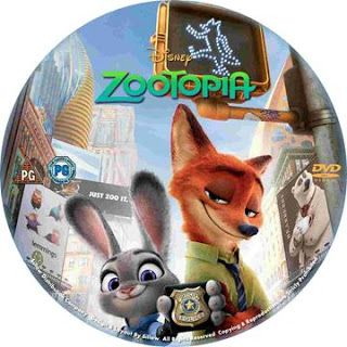 Mega Covers Gtba: Zootopia (2016) R2 - Label DVD Movie