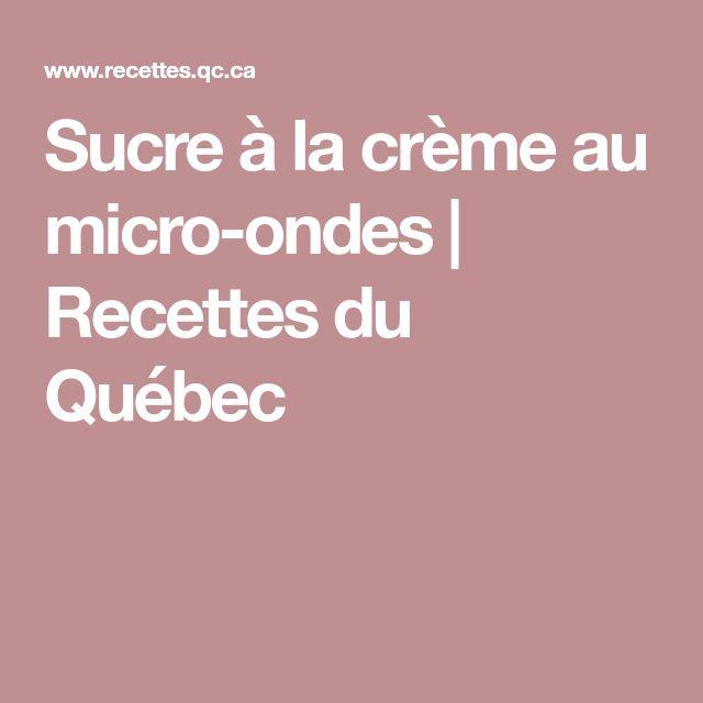 Sucre à la crème au micro-ondes | Recettes du Québec
