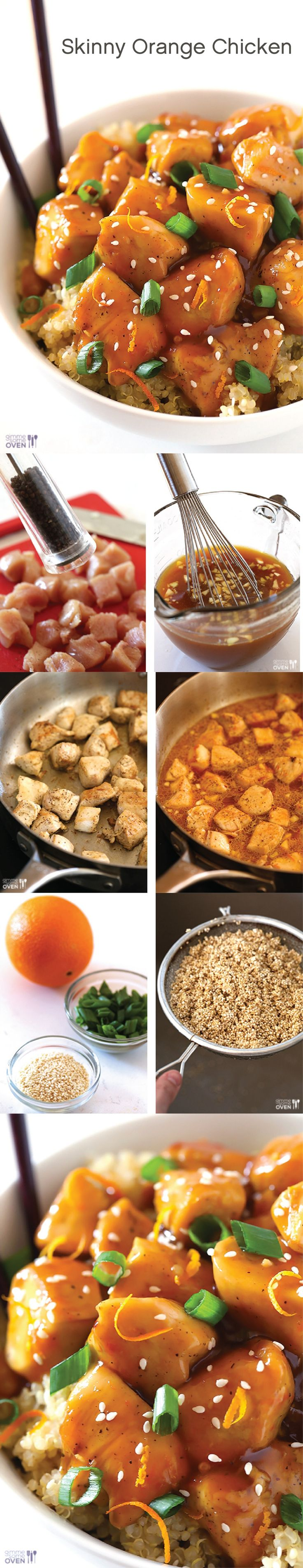 This Skinny Orange Chicken dish tastes just as good as it looks! Try it for dinner tonight!