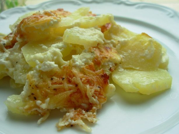 This classic French potato gratin dish.  Try to slice the potatoes as thinly as possible for the ..