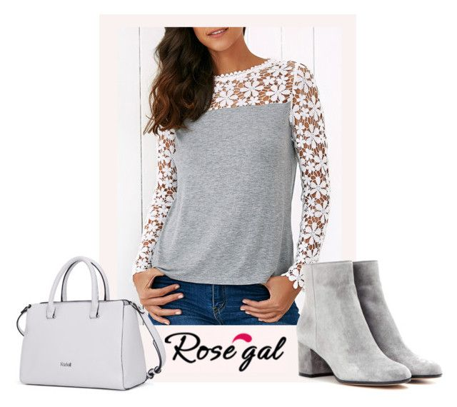 RoseGal in Style by monique-joanne on Polyvore featuring polyvore, fashion, style, Gianvito Rossi, vintage and clothing