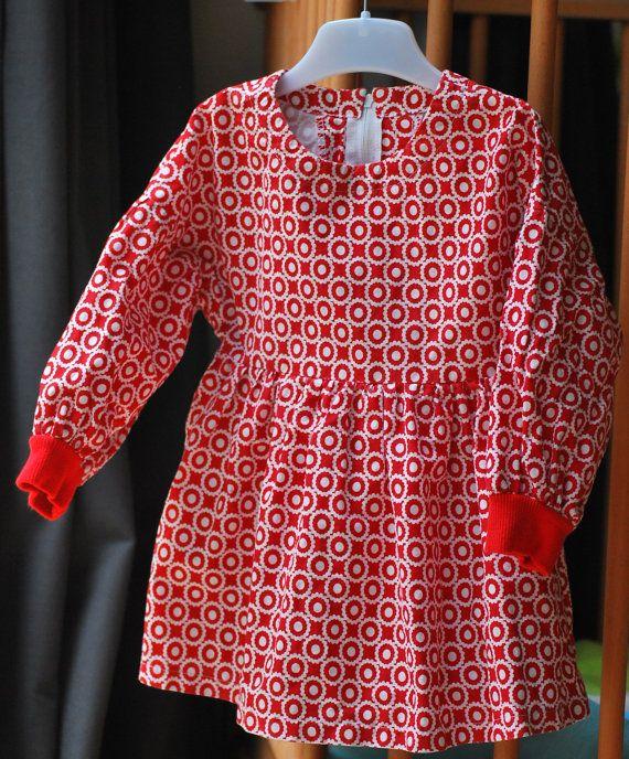Bekijk dit items in mijn Etsy shop https://www.etsy.com/nl/listing/255354535/jurk-peuter-meisje-herfst-winter-lente
